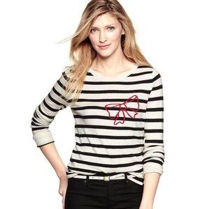 Gap striped bow wool blend sweater size XS